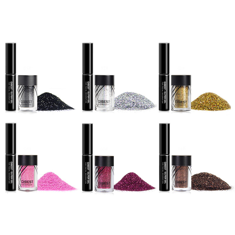 QiBest Flimmer Glitter Pulver Lidschatten Gesichts Lippen Lippen Nagel und  R3U1