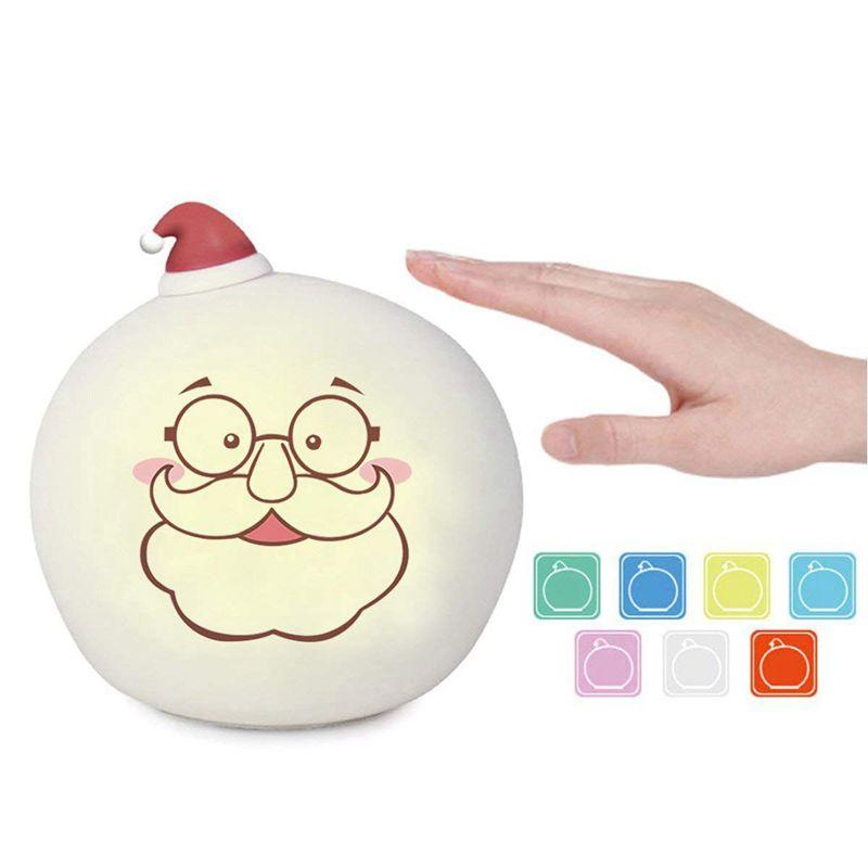 5X(Kinder Weihnachts Led Nachtlicht,Weihnachtsmann Silikon Katzen Leicht WiD1D6)   Ästhetisches Aussehen