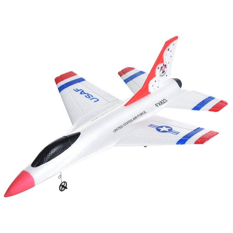 3X(FX-823 2.4G 2CH RC Airplane Aliante Aereo di controllo aereo per voli al W5G5