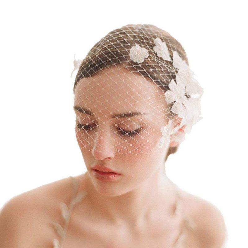 Kleidung & Accessoires Frauen Braut Vogel Käfig Schleier Weiße Blume Mesh Mesh Schleier Kurze Hoch Y9f3 Angenehm Bis Zum Gaumen