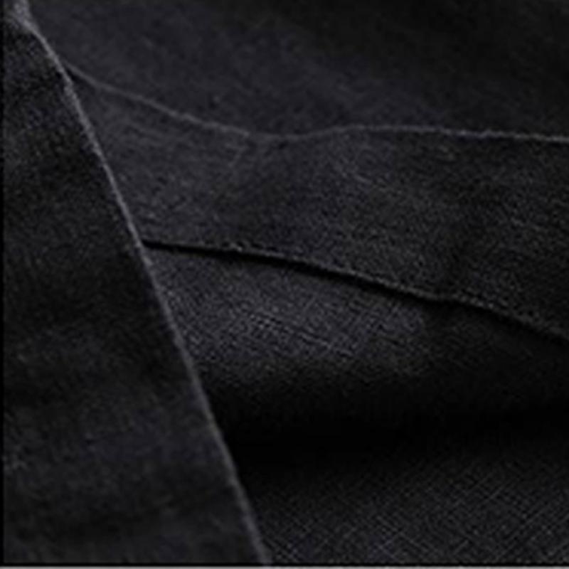 Automne-Nouveau-Coton-Lin-Jambe-Large-Femme-Pantalons-Bouton-Taille-Elastiq-N9Y6 miniature 11