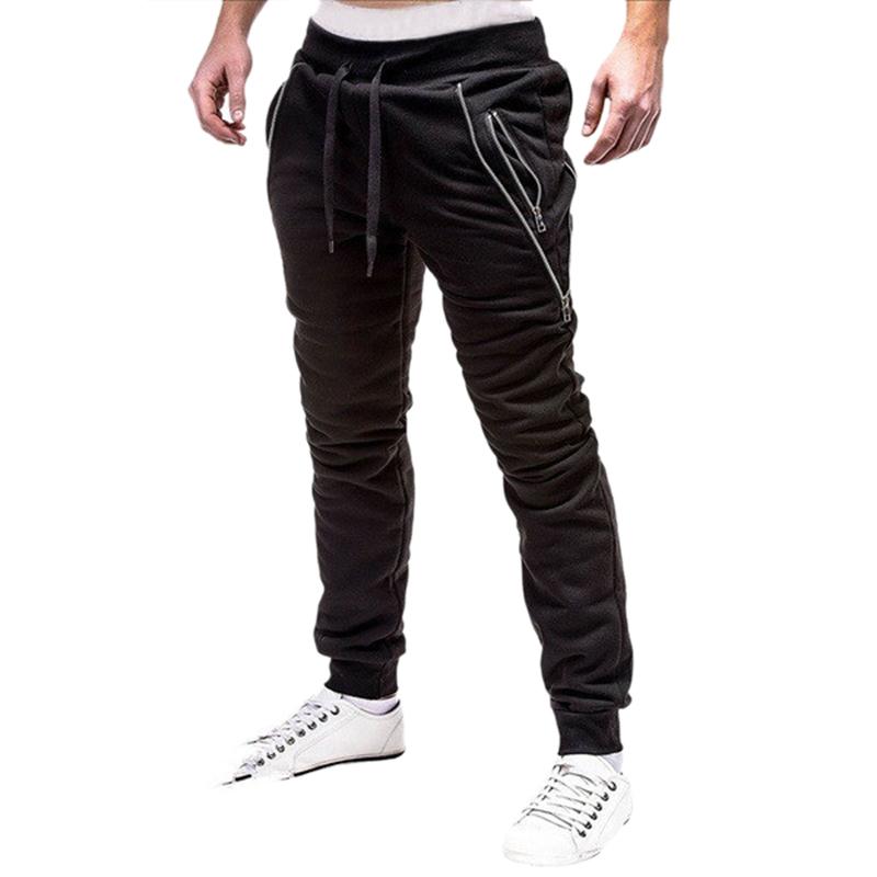 2X-Pantalones-De-Bolsillos-Con-Cremallera-De-Cintura-Elastica-De-Cordon-Par-R1Y6 miniatura 3