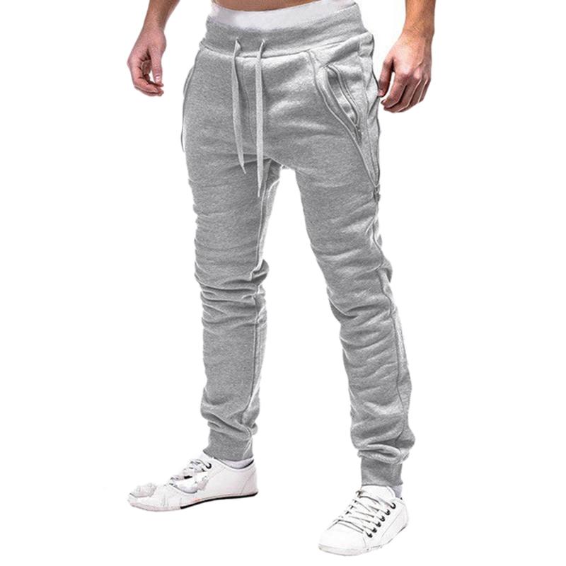 2X-Pantalones-De-Bolsillos-Con-Cremallera-De-Cintura-Elastica-De-Cordon-Par-R1Y6 miniatura 7