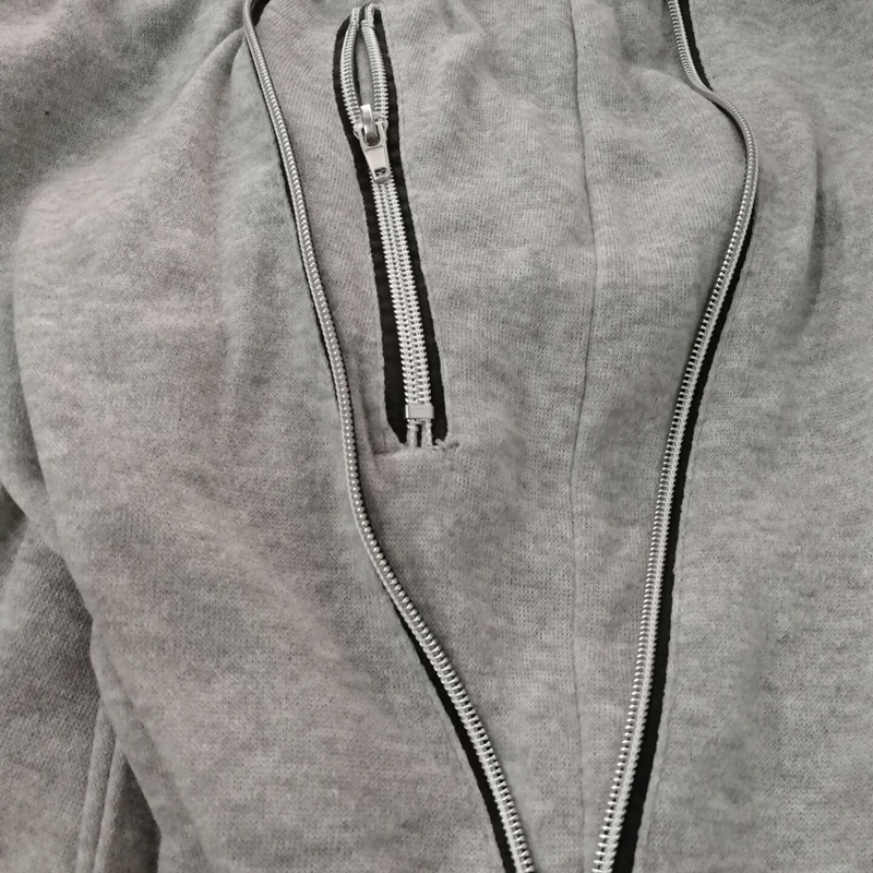 2X-Pantalones-De-Bolsillos-Con-Cremallera-De-Cintura-Elastica-De-Cordon-Par-R1Y6 miniatura 9
