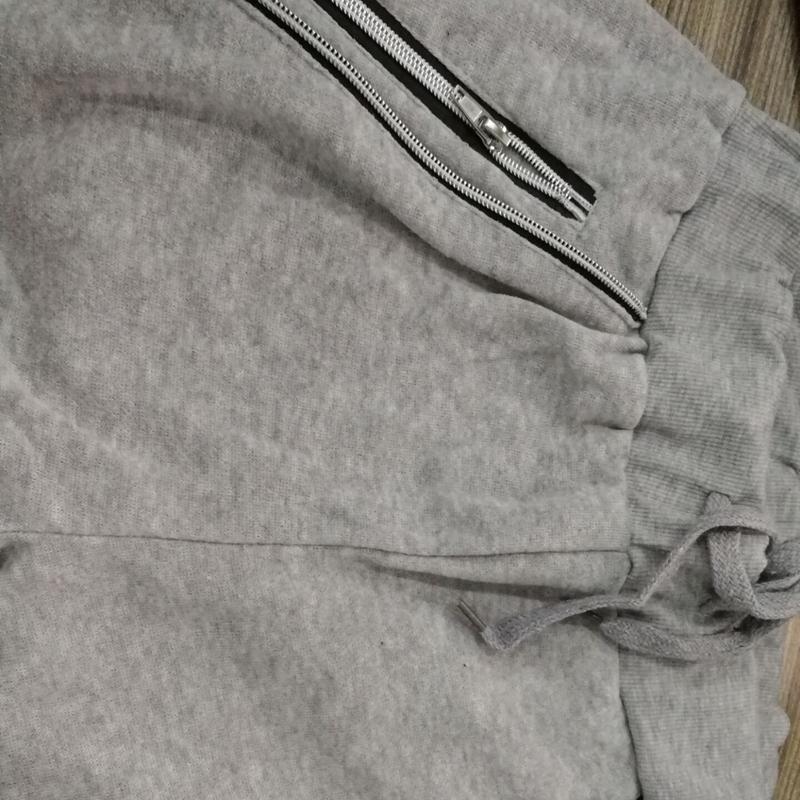 2X-Pantalones-De-Bolsillos-Con-Cremallera-De-Cintura-Elastica-De-Cordon-Par-R1Y6 miniatura 10