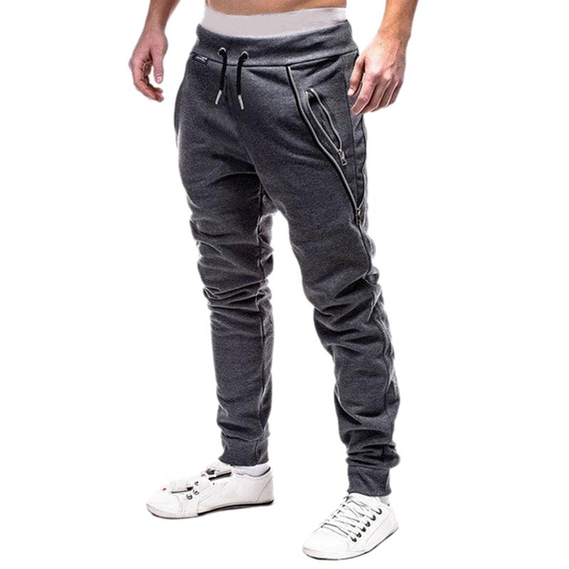 2X-Pantalones-De-Bolsillos-Con-Cremallera-De-Cintura-Elastica-De-Cordon-Par-R1Y6 miniatura 14