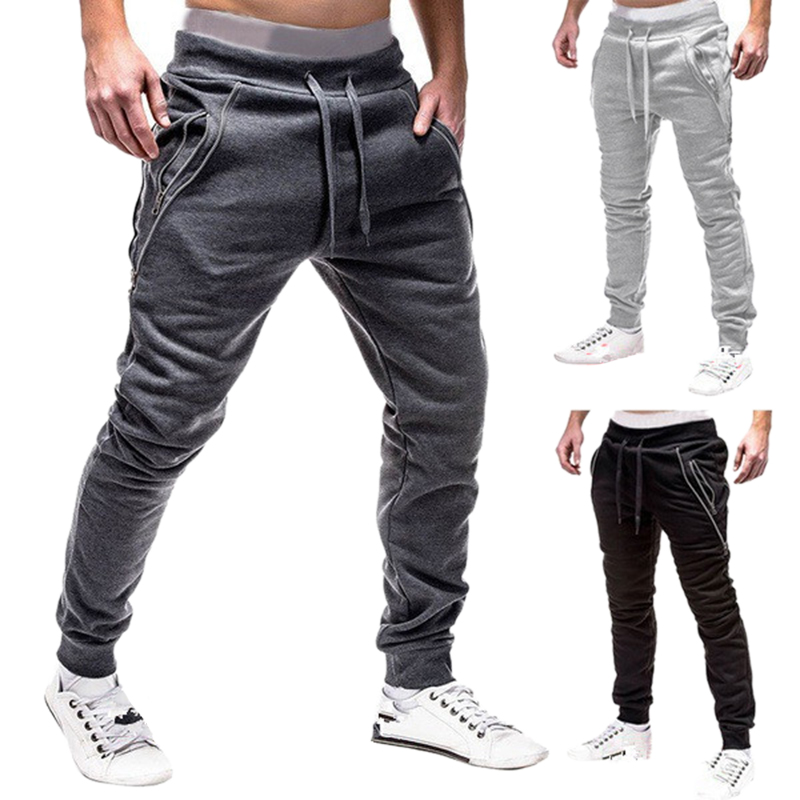 2X-Pantalones-De-Bolsillos-Con-Cremallera-De-Cintura-Elastica-De-Cordon-Par-R1Y6 miniatura 16