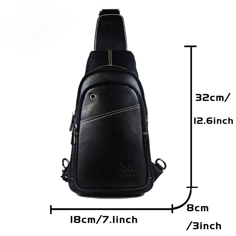 Bullcaptain-Sacs-A-Bandouliere-En-Cuir-Veritable-A-La-Mode-Sac-A-Bandoulier-M5U8 miniature 10