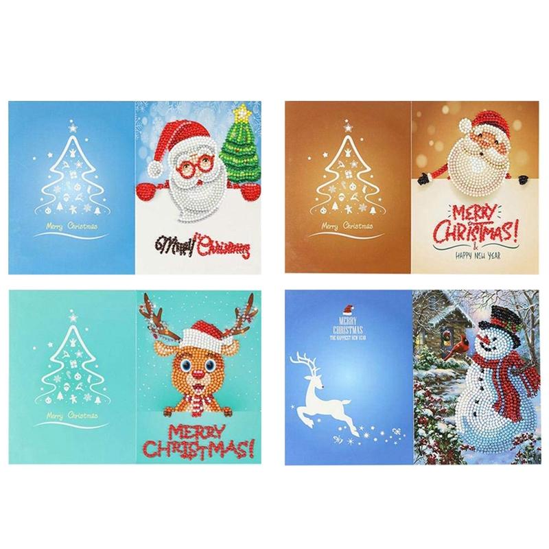 Detalles De 5x 4 Piezas Tarjetas De Invitaciones De Fiesta De Navidad Diy Muñeco De Niek4e4