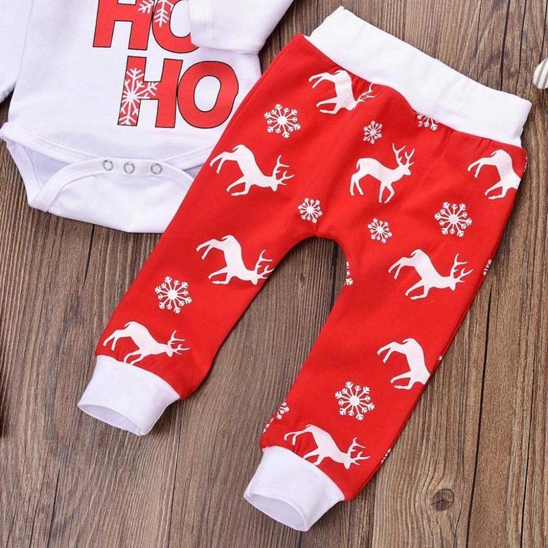 Navidad-Bebe-Corredor-Nina-3-Piezas-Conjunto-de-Letras-Mono-Pantalones-De-I6V2 miniatura 5