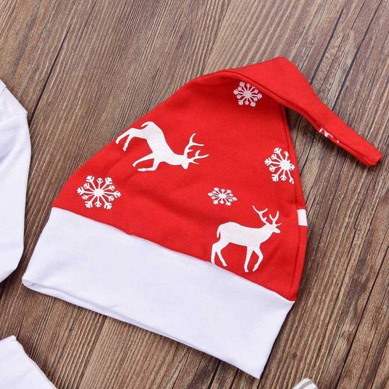 Navidad-Bebe-Corredor-Nina-3-Piezas-Conjunto-de-Letras-Mono-Pantalones-De-I6V2 miniatura 7