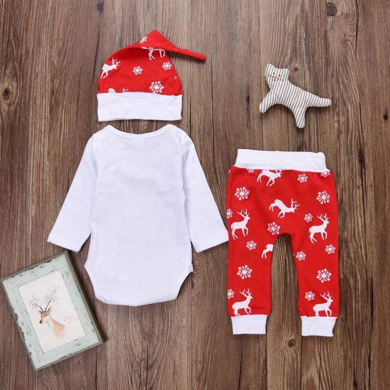 Navidad-Bebe-Corredor-Nina-3-Piezas-Conjunto-de-Letras-Mono-Pantalones-De-I6V2 miniatura 8