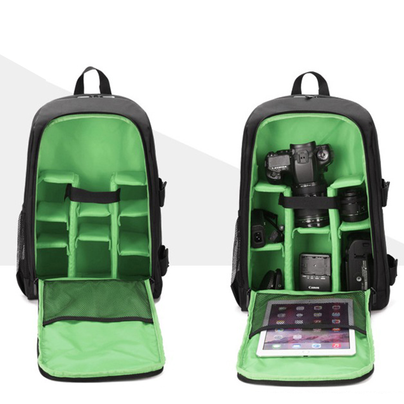 Waterproof-Digital-DSLR-Photo-Padded-Backpack-with-Rain-Cover-Bag-Case-for-O4R5 thumbnail 24