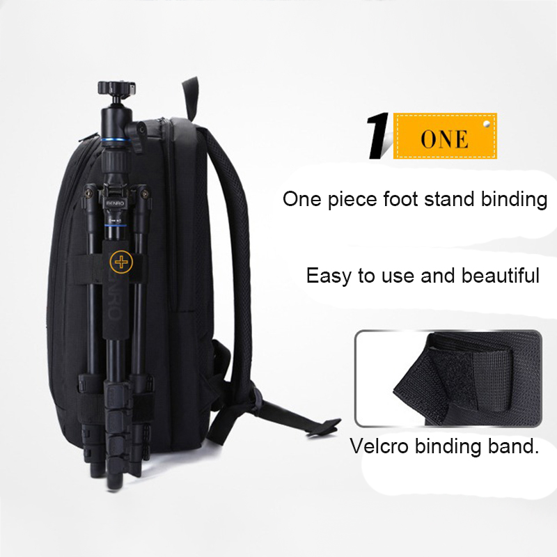 Waterproof-Digital-DSLR-Photo-Padded-Backpack-with-Rain-Cover-Bag-Case-for-O4R5 thumbnail 27