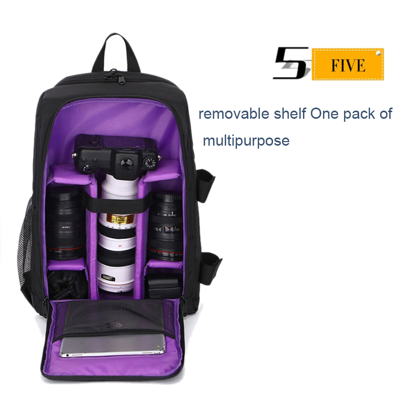 Waterproof-Digital-DSLR-Photo-Padded-Backpack-with-Rain-Cover-Bag-Case-for-O4R5 thumbnail 40