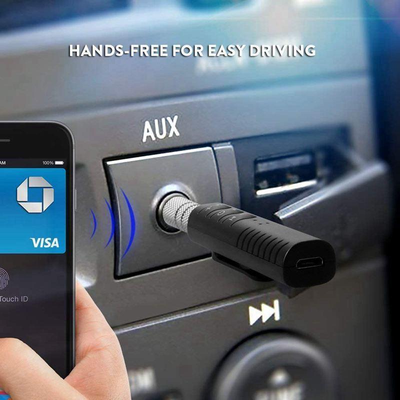 Bluetooth-Receiver-3-5mm-AUX-Adapter-Wireless-Transmitter-Handsfree-Portabl-D4M1