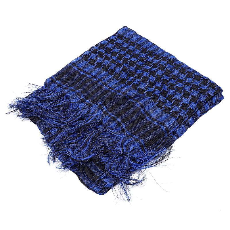 1X-Unisex-Scarf-Cotton-Lightweight-Plaid-Tassel-Arab-Desert-Shemagh-D4Q3 thumbnail 4