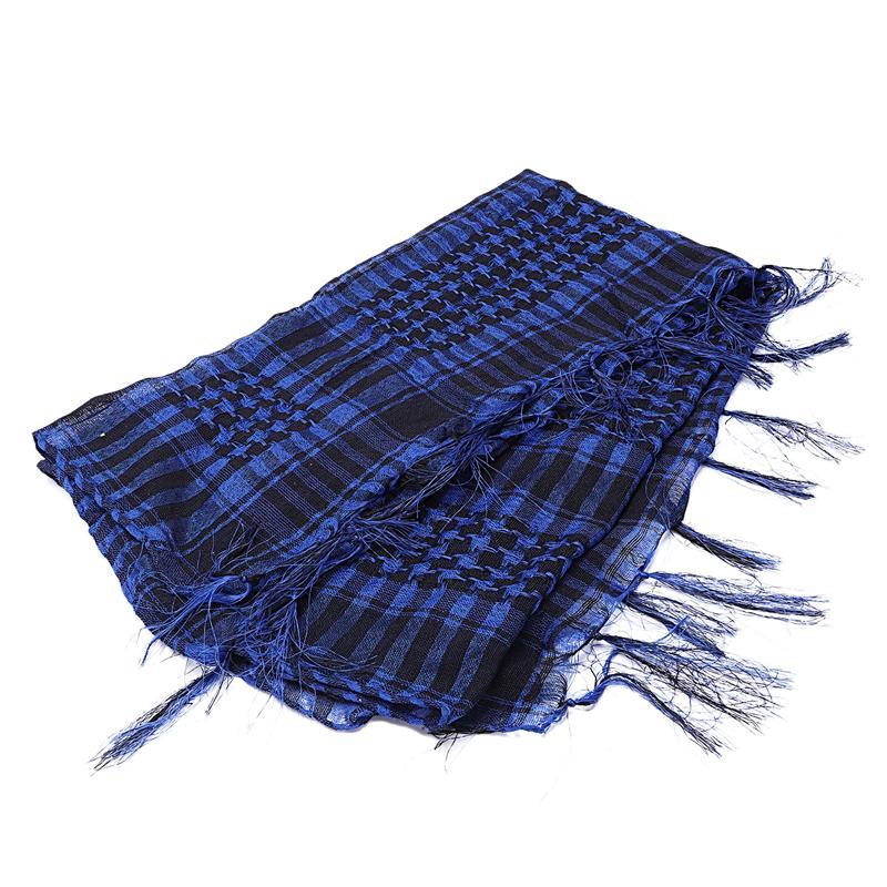 1X-Unisex-Scarf-Cotton-Lightweight-Plaid-Tassel-Arab-Desert-Shemagh-D4Q3 thumbnail 5