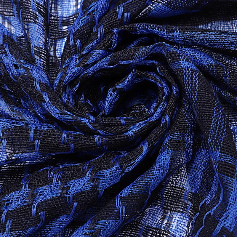 1X-Unisex-Scarf-Cotton-Lightweight-Plaid-Tassel-Arab-Desert-Shemagh-D4Q3 thumbnail 6