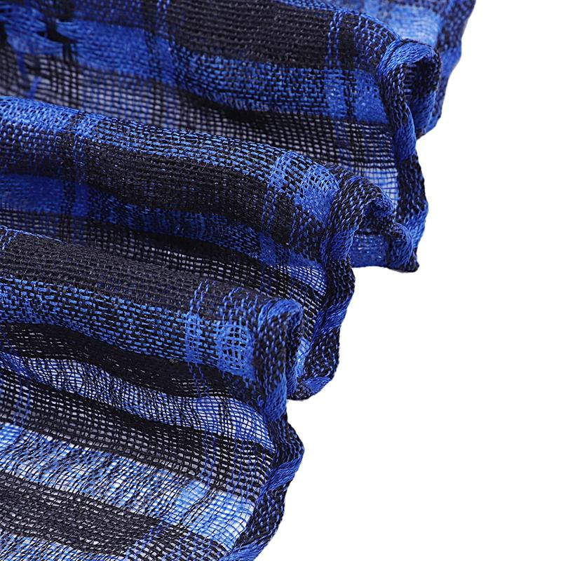 1X-Unisex-Scarf-Cotton-Lightweight-Plaid-Tassel-Arab-Desert-Shemagh-D4Q3 thumbnail 8