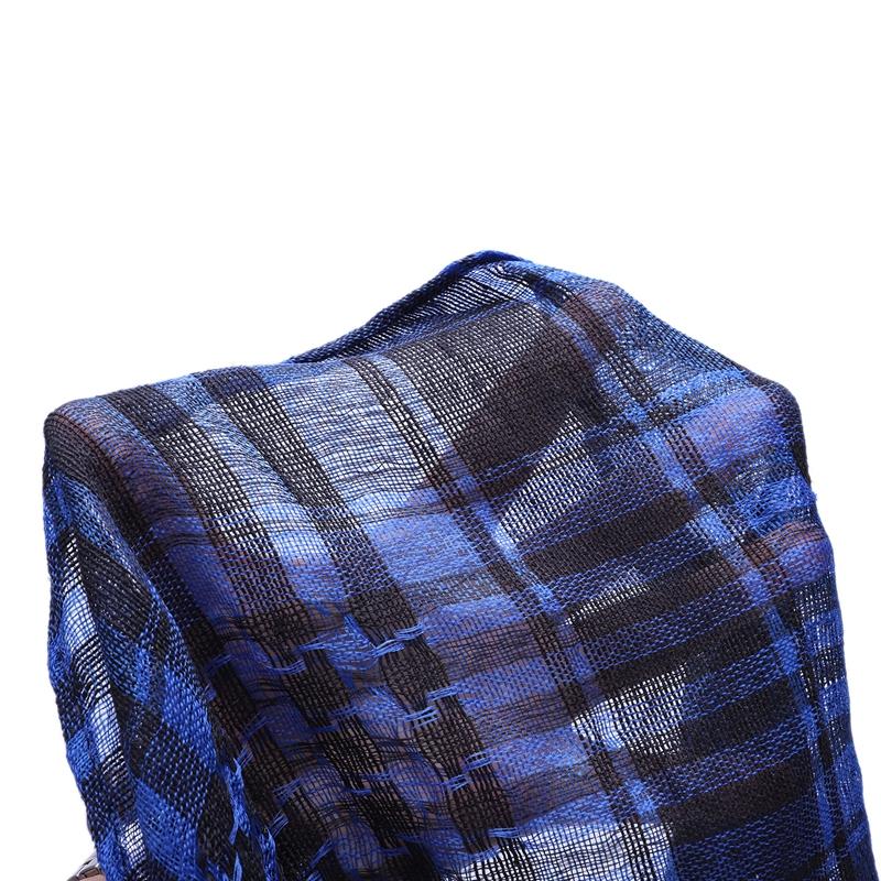 1X-Unisex-Scarf-Cotton-Lightweight-Plaid-Tassel-Arab-Desert-Shemagh-D4Q3 thumbnail 9
