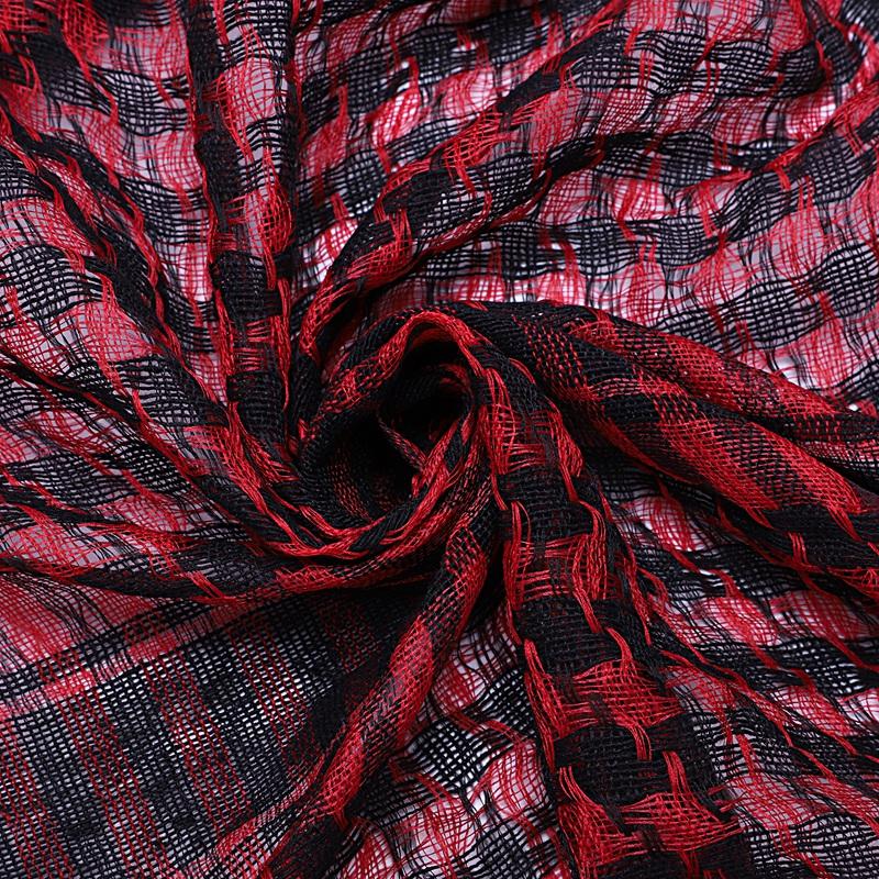 1X-Unisex-Scarf-Cotton-Lightweight-Plaid-Tassel-Arab-Desert-Shemagh-D4Q3 thumbnail 16