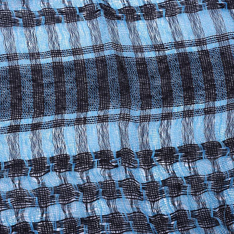 1X-Unisex-Scarf-Cotton-Lightweight-Plaid-Tassel-Arab-Desert-Shemagh-D4Q3 thumbnail 22
