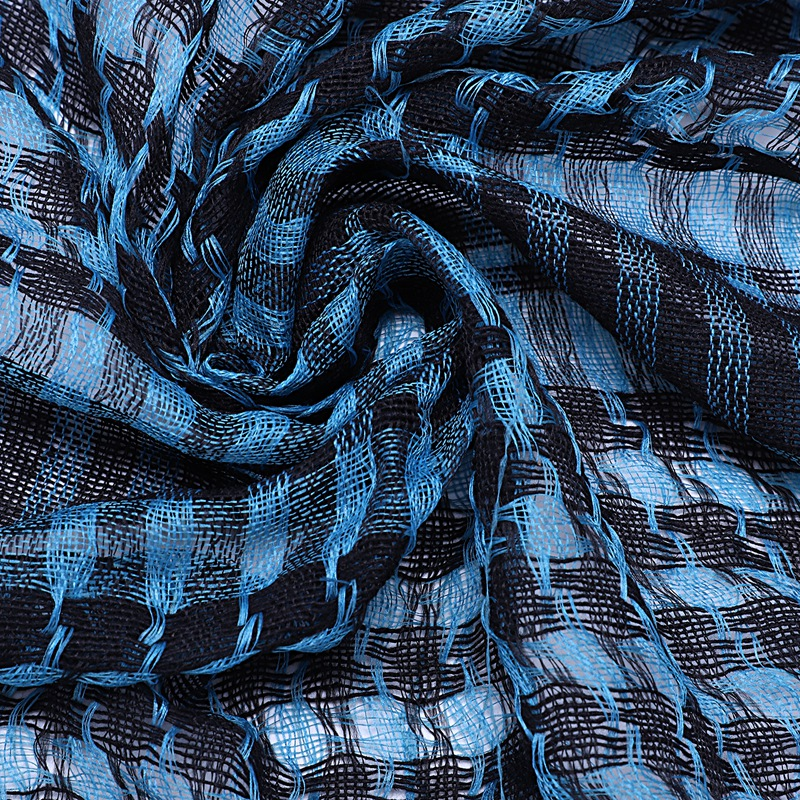 1X-Unisex-Scarf-Cotton-Lightweight-Plaid-Tassel-Arab-Desert-Shemagh-D4Q3 thumbnail 23