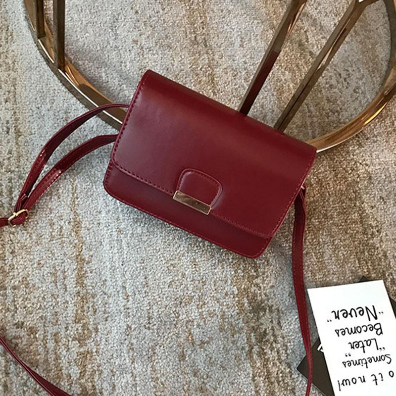 Women-039-s-Fashion-Leather-Simple-Solid-Handbag-Small-Shoulder-Bags-Crossbody-N2X8 thumbnail 4