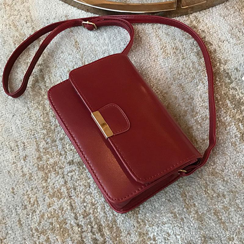 Women-039-s-Fashion-Leather-Simple-Solid-Handbag-Small-Shoulder-Bags-Crossbody-N2X8 thumbnail 6