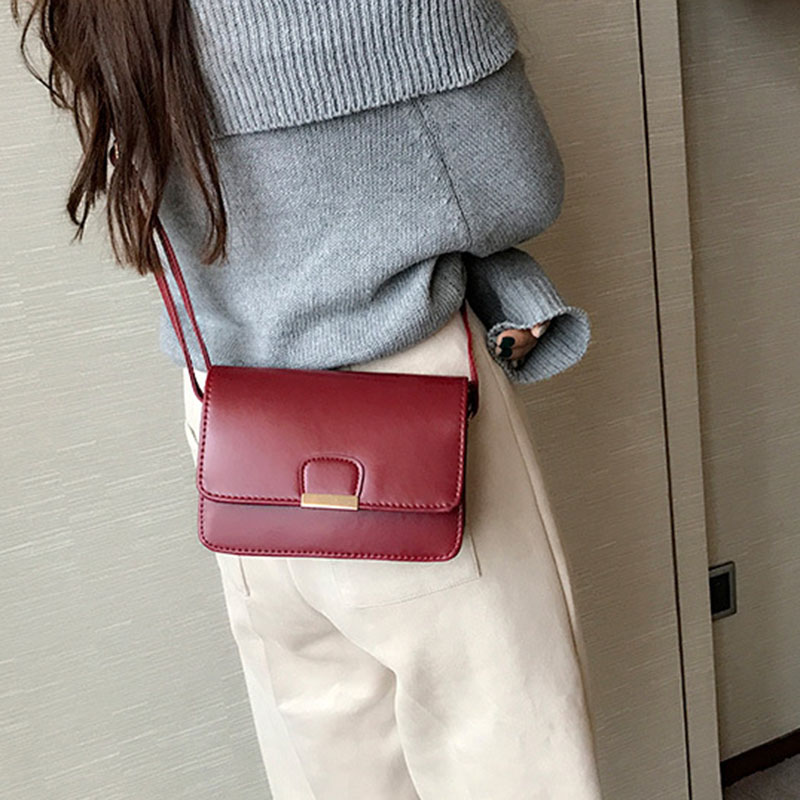 Women-039-s-Fashion-Leather-Simple-Solid-Handbag-Small-Shoulder-Bags-Crossbody-N2X8 thumbnail 9