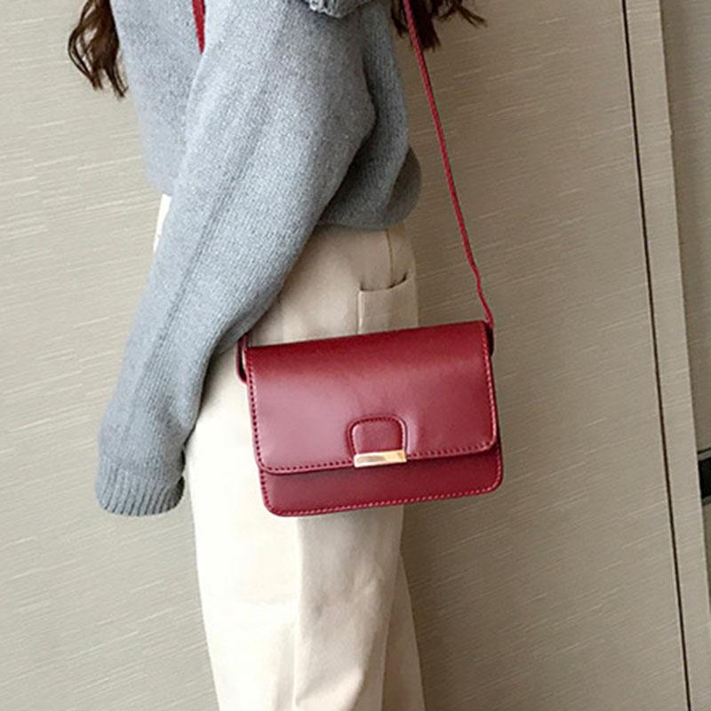 Women-039-s-Fashion-Leather-Simple-Solid-Handbag-Small-Shoulder-Bags-Crossbody-N2X8 thumbnail 10