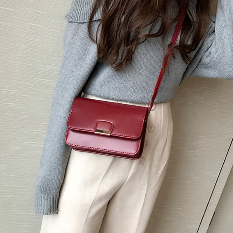 Women-039-s-Fashion-Leather-Simple-Solid-Handbag-Small-Shoulder-Bags-Crossbody-N2X8 thumbnail 11