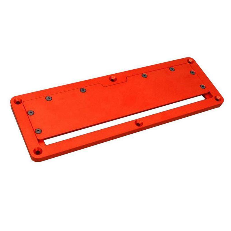 Aluminum Circular Saw Throat Plate Flip DIY Woodworking Table Cover Plate G9P5
