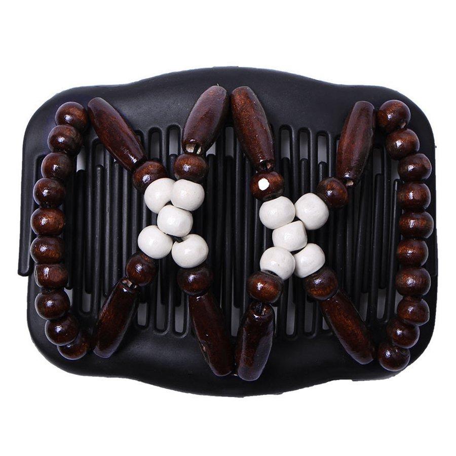 2x cheveux magiques peignes perles doubles pinces à cheveux accessoires