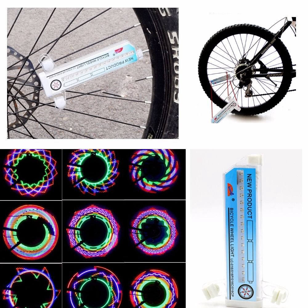 Bicycle Light 32 Led Patterns Cycling Bikes Bicycles Rainbow Wheel Signal Tire Spoke Light Wide Selection;