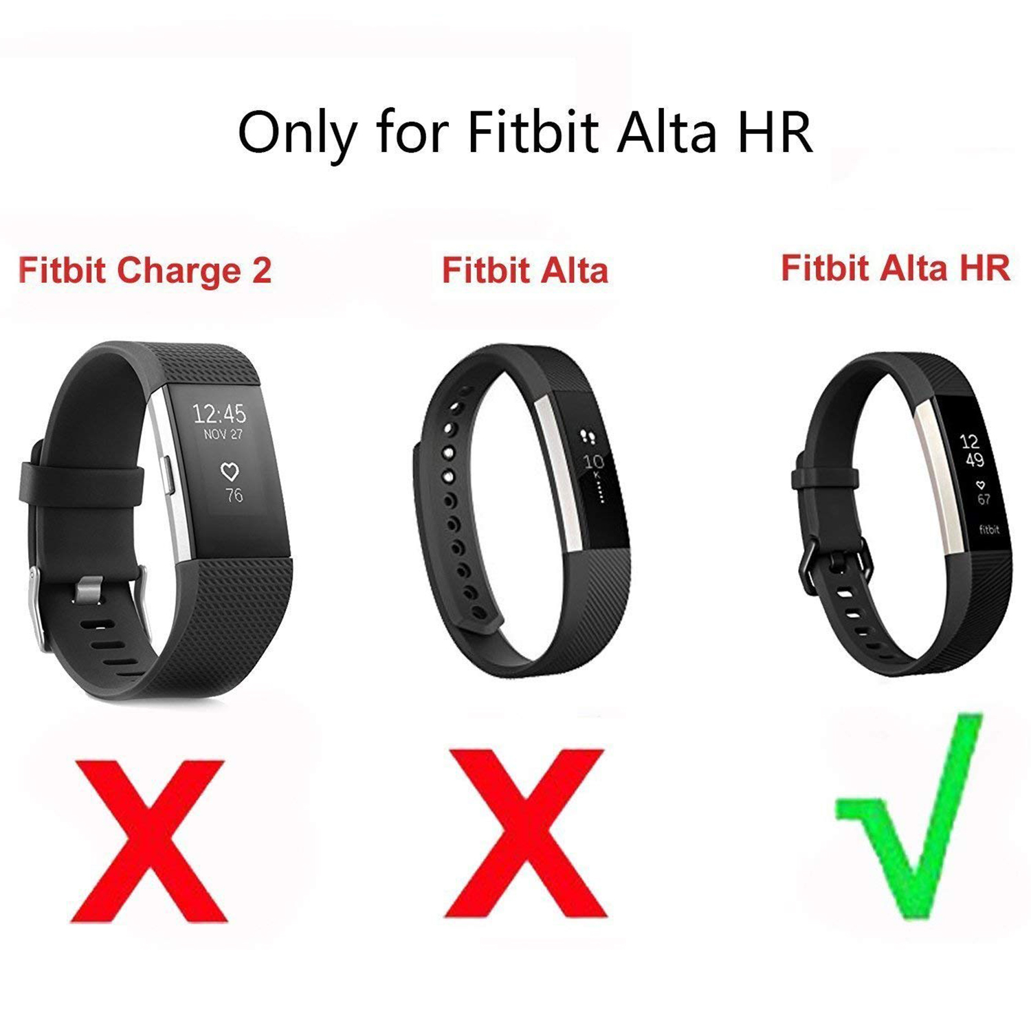 for Fitbit ALTA HR Charger With Reset Button Replacement USB Charging Cable  Fib5
