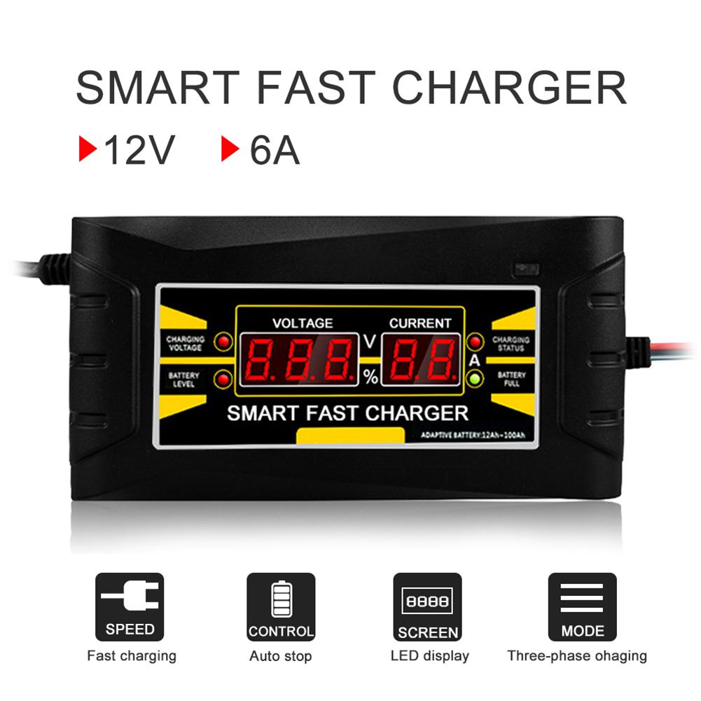 Cargador-De-Bateria-De-Coche-Del-Enchufe-De-La-Ue-12V-6A-10A-Inteligente-Co-P7V6 miniatura 6