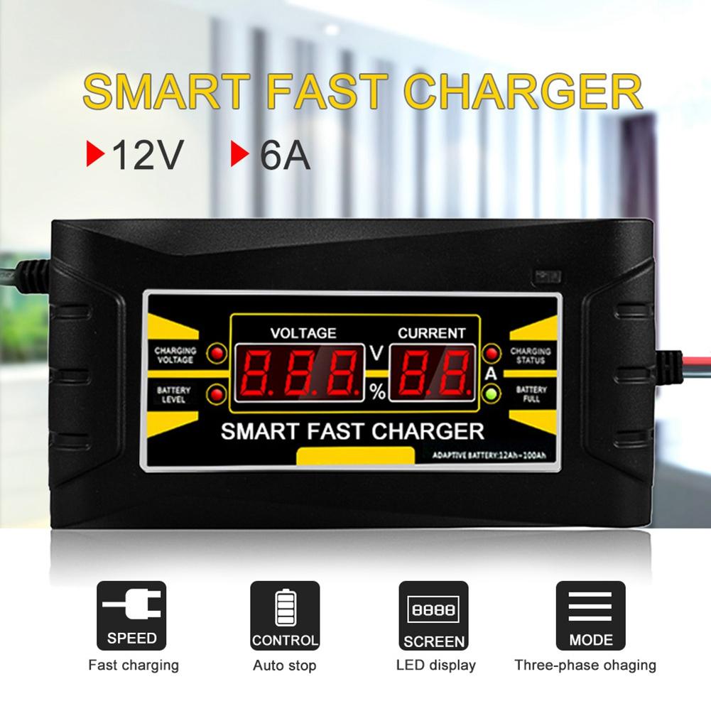 Cargador-De-Bateria-De-Coche-Del-Enchufe-De-La-Ue-12V-6A-10A-Inteligente-Co-P7V6 miniatura 7