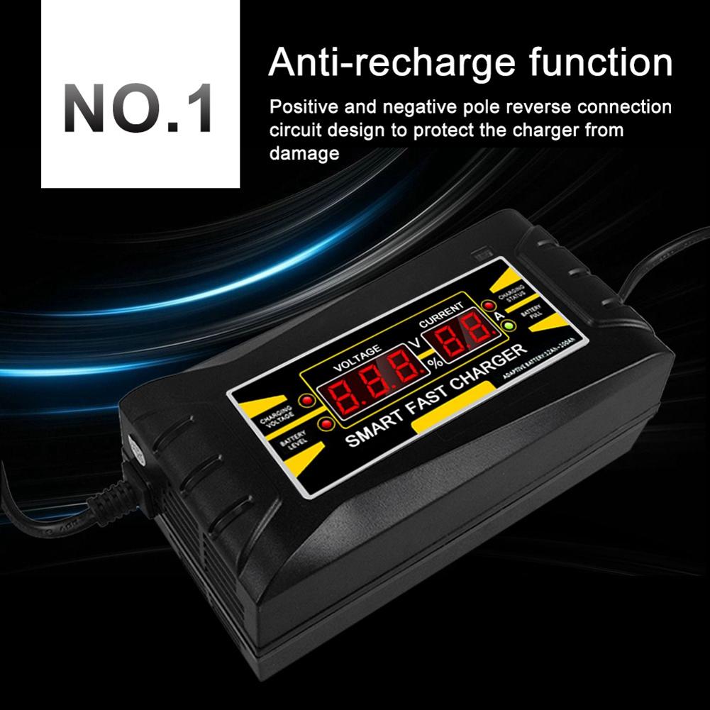 Cargador-De-Bateria-De-Coche-Del-Enchufe-De-La-Ue-12V-6A-10A-Inteligente-Co-P7V6 miniatura 9