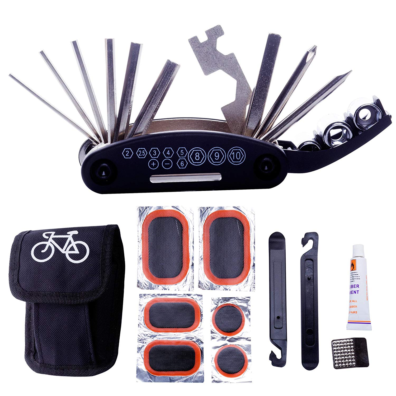 ROCKBROS Vélo Portable Pneu De Vélo Kit De Réparation Outil Sac Outil multifonction Noir