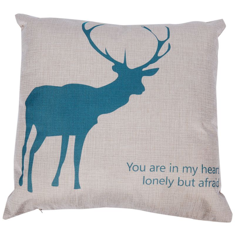Vintage Tapestry Home Sofa Cushion Cover Pillow Case Antler Deer