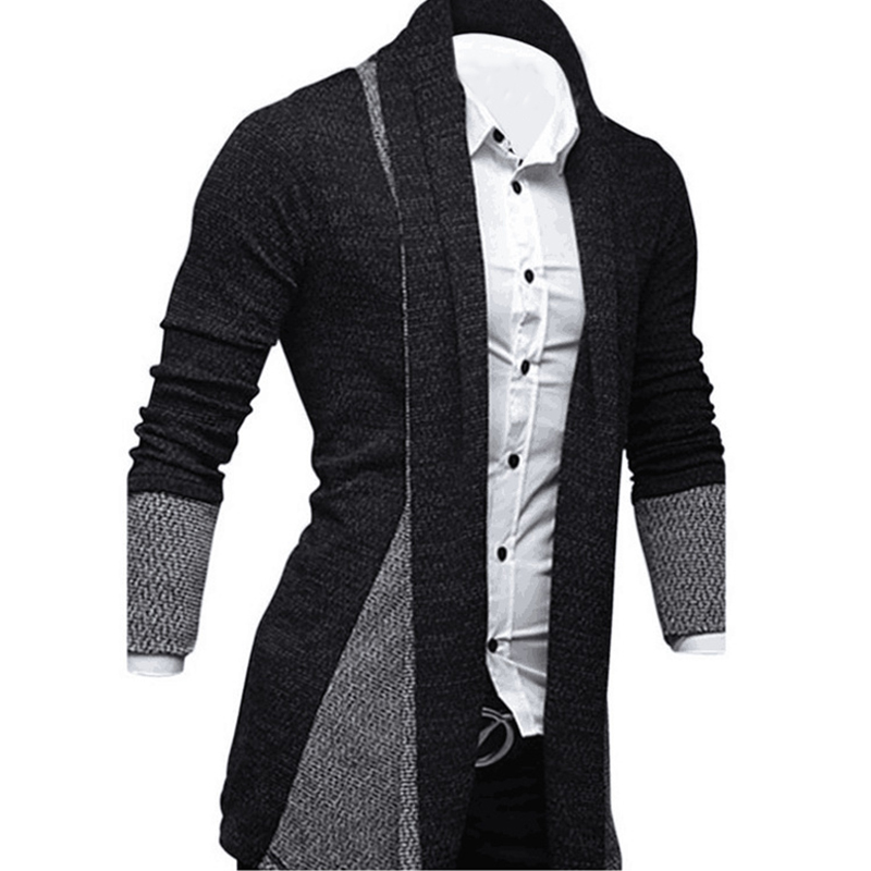 3X-Men-Fashion-Color-Splice-Front-Open-Knitted-Sweater-Cardigan-Male-Casual-P8H7