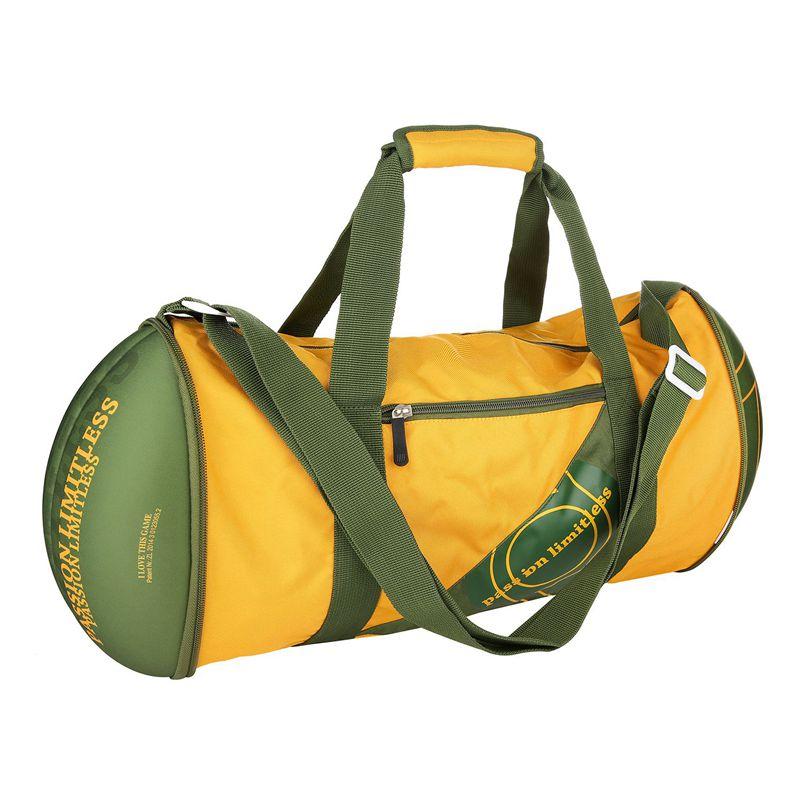 Unisex Football Shape Gym Sport Duffel Bag Travel Vacation Home ... 1d3b0e2afd546