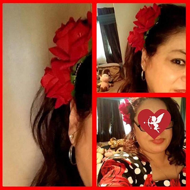 Rose Fleur Pince À Cheveux Diapo Danseuse De Flamenco Broche Fleur Broche D A9C8