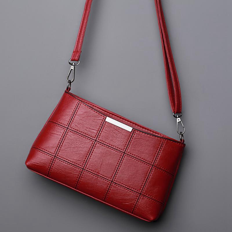 19f4a31d0d50 Details about 3XWomen Plaid Messenger Bags Sac a Main PU Leather Shoulder  Bags Women Cross G7L