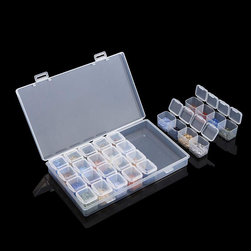 Boîte À Broder À Diamant 4 Paquets 28 Grilles 5D Boîte À Diamants Et Outils 4H6