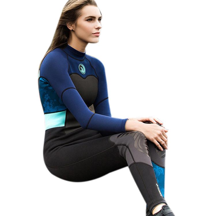 HISEA 1.5mm Neoprene Wetsuits Women Bodysuits Slim Scuba Diving Snorkeling P3X9