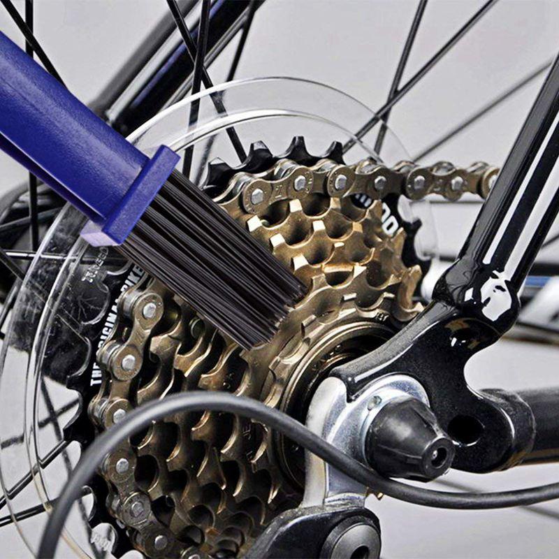 Kit de Cepillo de Limpieza de Cadena de Bicicleta Herramientas Cepillo de Cas 1O
