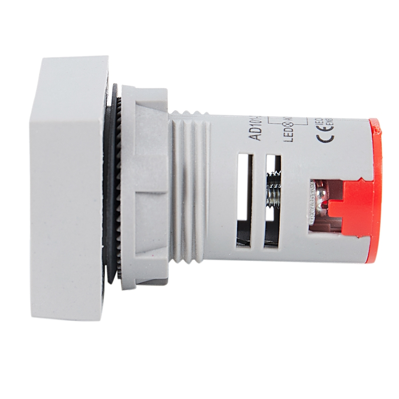 22mm-Ca-12-500V-Voltimetro-Panel-Cuadrado-Led-Medidor-de-Voltaje-Digital-Luz-GNH miniatura 4
